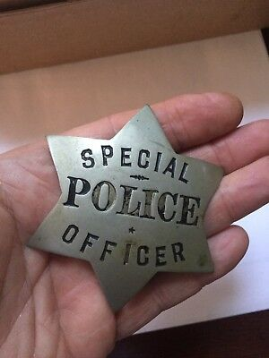 Early 1890-1920 Heavy Pie Plate Special Police Star Badge from Chicago