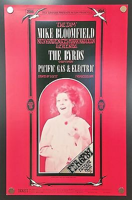 Mike Bloomfield/The Byrds BG-159 (1969) – 1st Print Concert Poster *Bill Graham*
