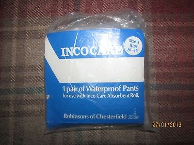 Vintage Robinsons of chesterfield plastic pants, adult baby