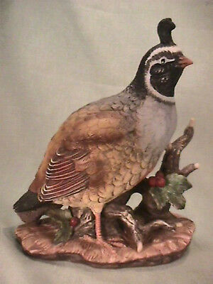 HOMCO 1981 Masterpiece Figurine- Quail Regally Watching for Hunters: NO RESERVE