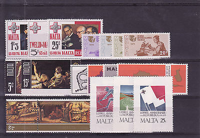 1975 Malta MNH - 6 sets of the year