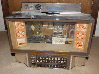 Vintage 1968-1976 Rowe AMI Diner Wall-Ette Jukebox with Key #WRC-200 RARE!