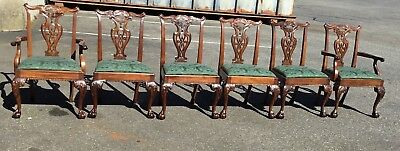 Six Henredon Ball And Claw Foot Chippendale Chairs