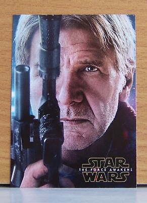 2016 Star Wars Force Awakens series 2 Han Solo Character Poster insert card 5