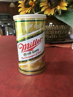 Vintage Miller High Life Beer Can with handkerchieves