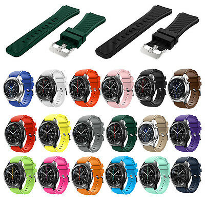 For Samsung Gear S3 Classic Frontier Sports Soft Silicone Bracelet Strap Band