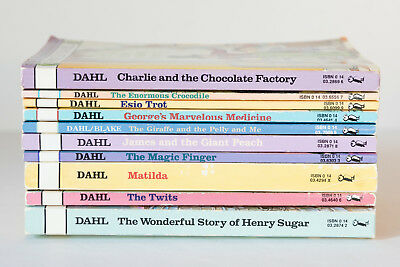 Lot of 10 ROALD DAHL Matched Set of Books  - Charlie Matilda James Giant Peach