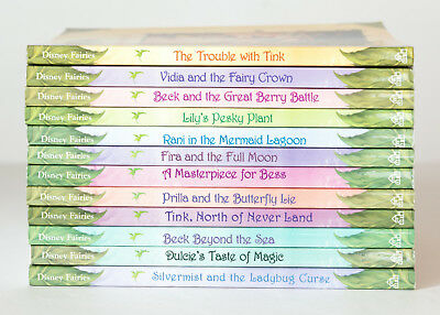 Lot of 12 (#1-12) DISNEY FAIRIES TALES OF PIXIE HOLLOW Series Matched Set Books