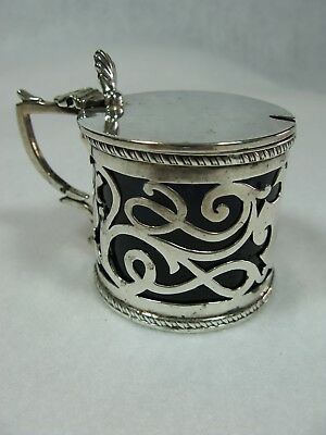 English Sterling Silver Mustard Jar