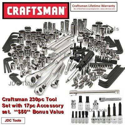 Craftsman 230 pc Tool Set with a 17 pc Accessory Set - Tools ONLY - NEW  165
