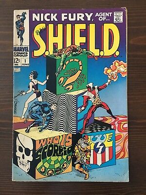 Nick Fury Agent Of Shield #1 1968 Marvel Avengers Steranko Nice Look