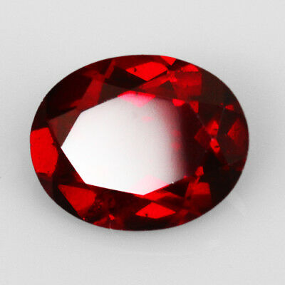 3Ct Blood Red Pyrope Garnet Faceted Cut 100% Natural UQRA538