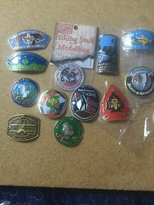 Boy Scout Hiking Staff Medallions Lot Of 12