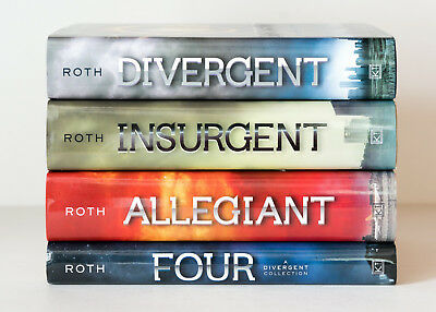 Lot of 4 (#1-4) DIVERGENT Complete Series Matched Set of HARDCOVER Books - Roth