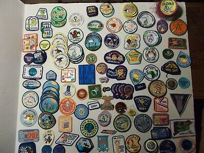 Lot of 185 Girl Scout Patches & Pins