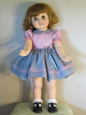 "Pink & Gray Dress W/attached Slip & Panties For 24"" American Character Toodles"