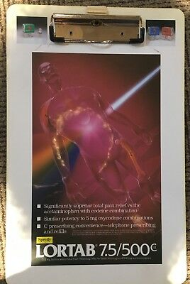 Lortab (hydrocodone) Clipboard Whitby Pharmaceuticals 1993. Drug Rep Gifts