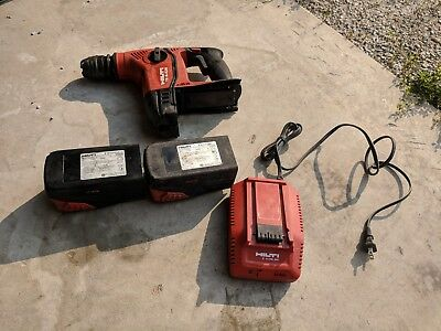 Hilti TE 6-A36 Cordless Rotary Hammer Drill With 2 batteries and charger