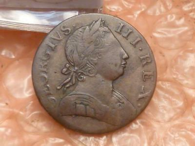 1775 Revolutionary War Era George III Colonial Halfpenny Clear Date #1C