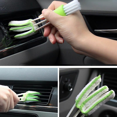 Green Mini Clean Indoor Air-condition Brush Tool Car Care Detailing For All Car