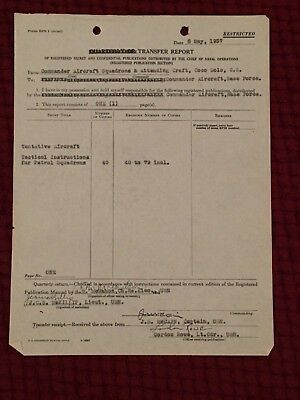 """Document Signed by John """"Slew"""" McCain: WWII Admiral - died 1945"""