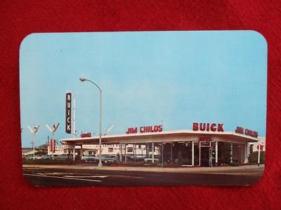 Vintage Post Card Jim Childs Buick Dealership Whttier CA. 1960s