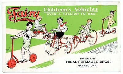 Fairy Children's Vehicles - Tricycles, Velocipedes, Scooters, etc. - c. 1930