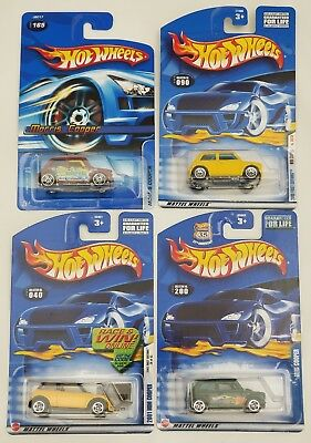 New Mixed Lot of 4 Mattel Hot Wheels 1:64 MINI COOPERS Morris mini cooper NIP