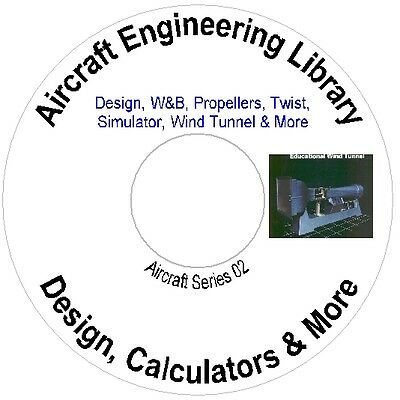 Aircraft Engineering Library, Design Calculators, Wind Tunnel  &; More
