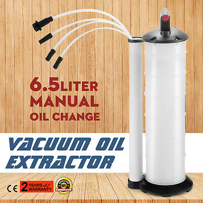 Manual 6.5L Oil Changer Fluid Extractor Pump 1.7 gallons Lubricant Muti-size
