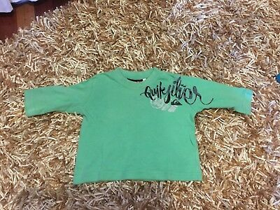 baby toddler boys QUIKSILVER long sleeve top tshirt T-shirt size 00