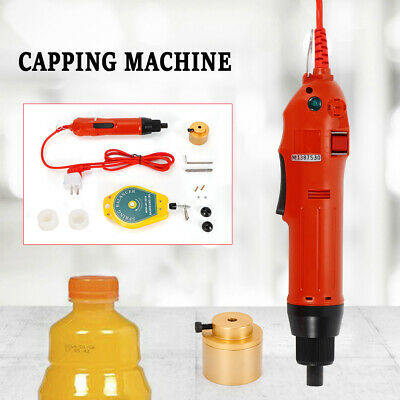 220V Handheld Electric Bottle Capping Machine Screw Capper Sealing Machine 80w