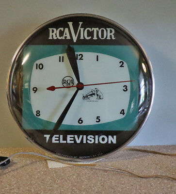 "Vintage RCA TELEVISION Light Up Pam Clock   15"" TV Sign"