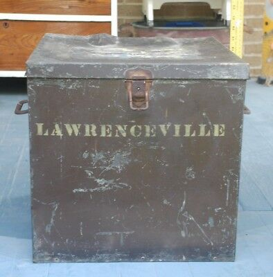 Antique / Vintage Steel Ballot Box From Lawrenceville, PA/ Tioga / Barn Find