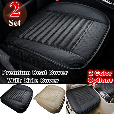 2x Car Full Surround Front Seat Cover Breathable Car Seat Cover Cushion Pad Mat