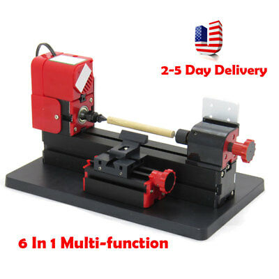 Durable 6-1 Lathe DIY Machine Tool Kit Jigsaw Milling Lathe Drilling Machine USA