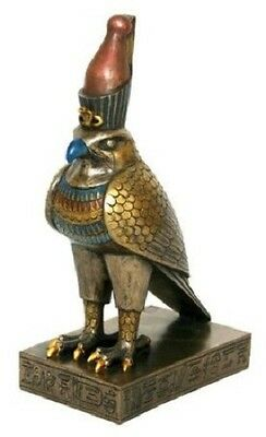 "8.5"" Egyptian Horus Sculpture Ancient Egypt God Statue Pagan Falcon Figure"