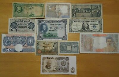 11 Old world banknotes