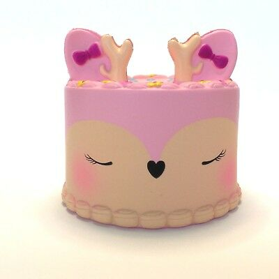 Jumbo Squishy Deer Cake Slow Rising Scented Free/Fast Shipping From USA
