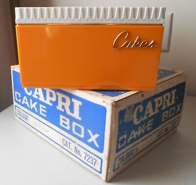RETRO CAKE CONTAINER NOS NEW IN BOX 1960s CAPRI VINTAGE KITCHEN YELLOW
