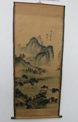 Old Collection Scroll Chinese Painting /Landscape Painting ZH1030+b