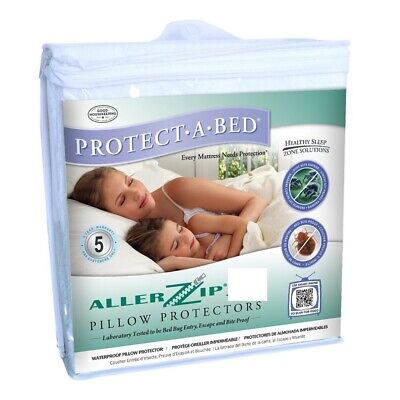 Allerzip Smooth Anti-Allergy Bed Bug Waterproof Pillow Protector 2 pack