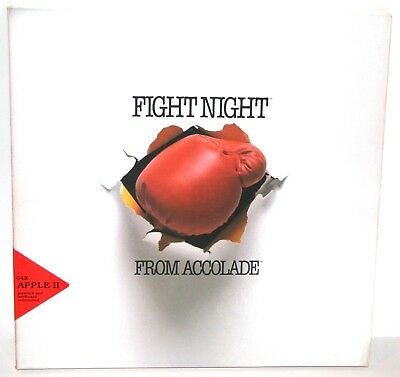 Vintage Apple II Computer software - Fight Night from Accolade
