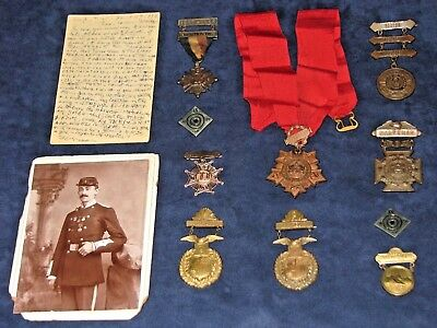 US Spanish-Amer War ID'd Medal Group NY Guard w/Tiffany Medals from Roosevelt