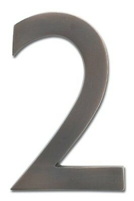 Architectural Mailboxes 3582DC Number 2 Solid Cast Brass 4 inch Floating House