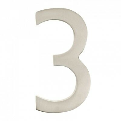 Architectural Mailboxes 3582SN-3 Solid Cast Brass 4 inch Floating House Number