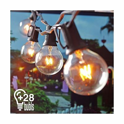 Heofean String Lights, G40 Outdoor String Light Bulbs Listed, Waterproof Stri...