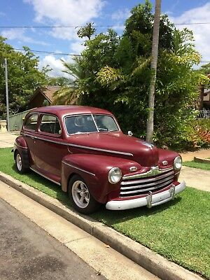 1946 Ford 2 Door Sedan, Straight, Completely Rust Free,with gen american racers