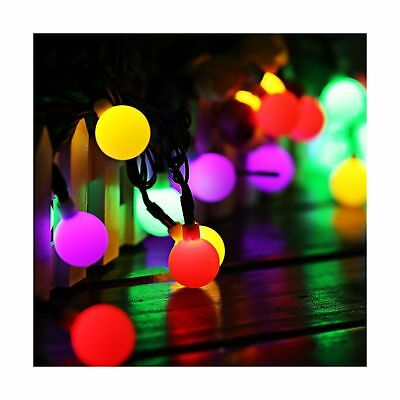 Solar Globe Fairy Lights, 60 LED Ball 35.6 Ft String Lights with 8 Modes Cosy...