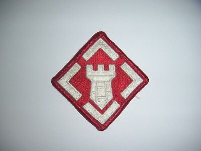 Used US Army 20th Engineer Brigade (ABN) Unit Patch (Sew on Type) No Tab (#1142)